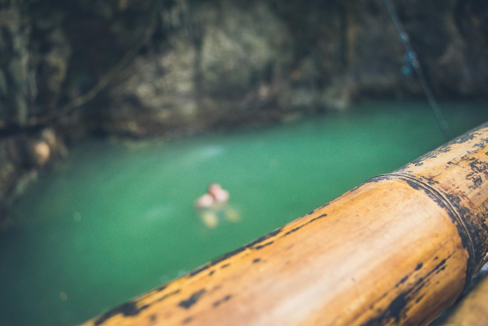Fresh water pool infront of Tayabang cave siargao