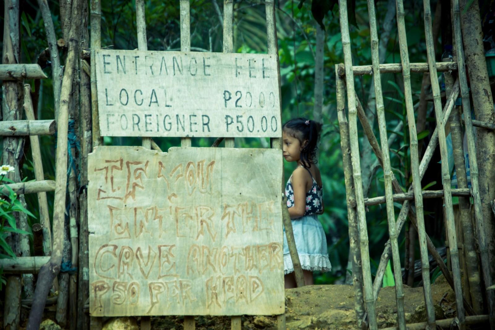 entrance to the Tayabang cave Siargao